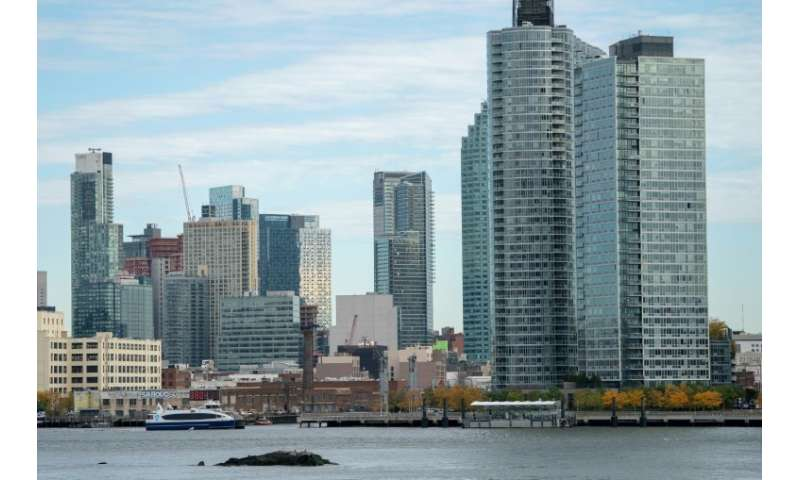 A view of Long Island City in the Queens borough of New York—it could be the new home of a satellite headquarters for Amazon