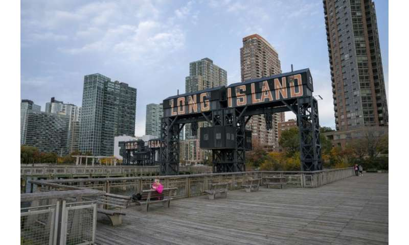 A view of the waterfront of Long Island City—which is just across the East River from Manhattan