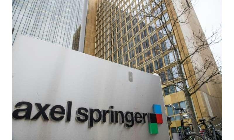 Axel Springer owns Germany's top-selling Bild newspaper
