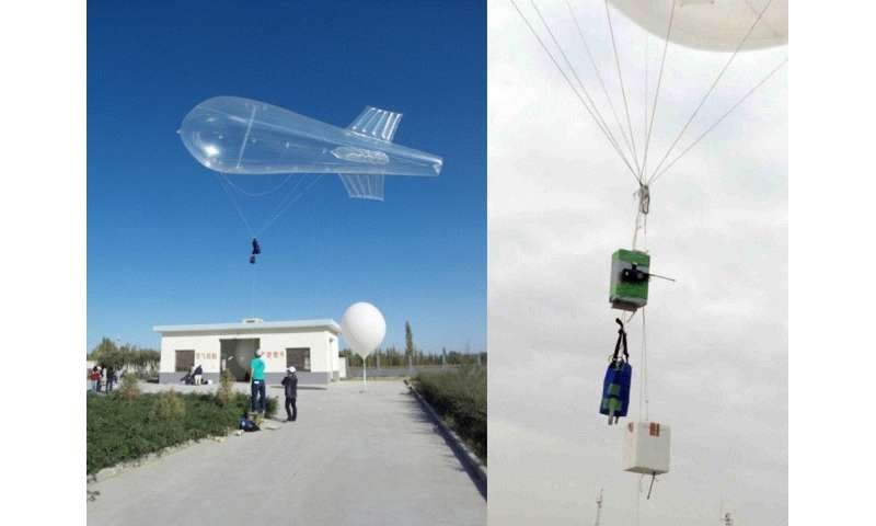 Balloon measurements reveal dust particle properties in free troposphere over desert