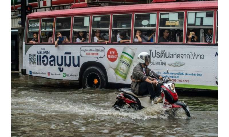 Bangkok is already 'largely under sea level' and monsoon season often brings flooding to the Thai capital
