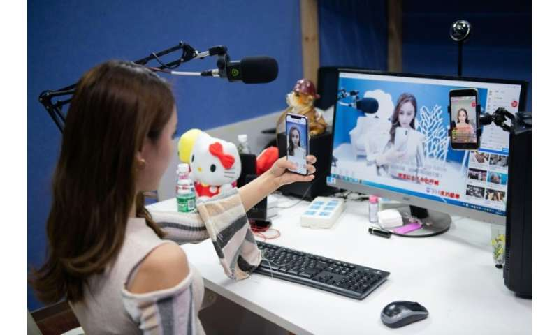Beijing-based Qiao Xi live-streams songs, dance moves and observations about her daily life to some 600,000 followers