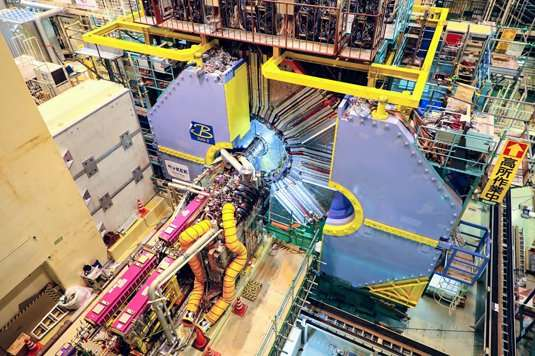 Belle II measures first particle collisions