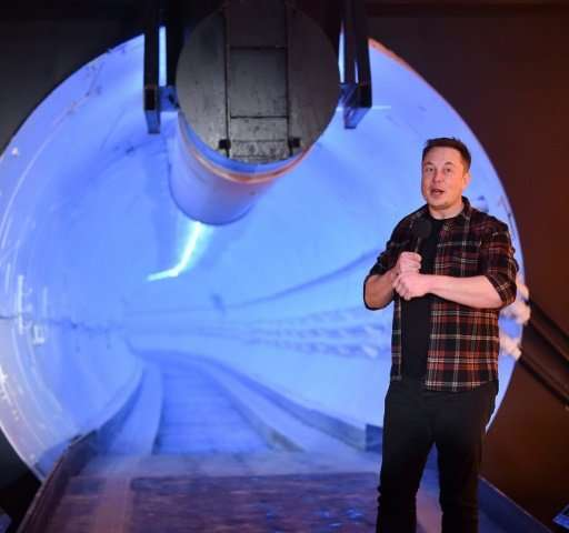 """BElon Musk said the only way to solve traffic problems was """"to go 3D, for the transport system to match the living quarters"""