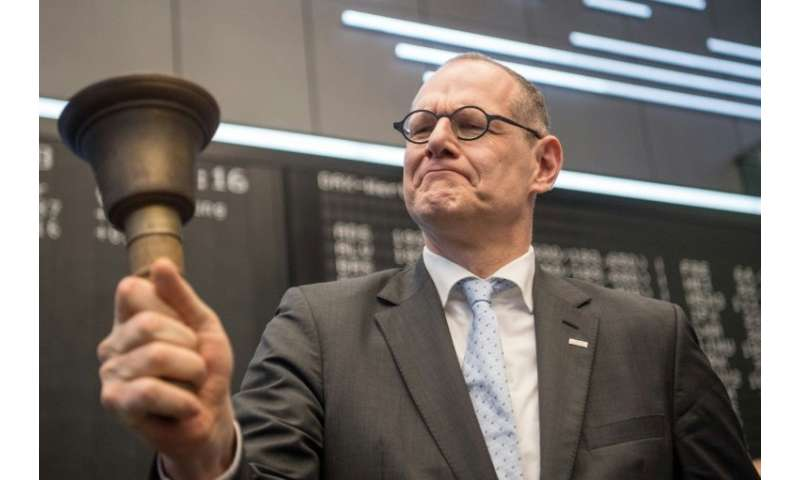Bernd Montag, chairman of Siemens' Healthineers unit, launches the IPO at the stock exchange