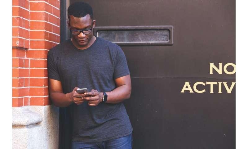 black person smartphone