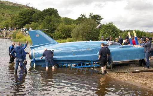 Bluebird jet boat floats again, 51 years after fatal crash
