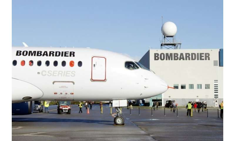 Bombardier has sold its stake in the C-Series aircraft, seen here in a 2013 picture, to Airbus but says it plans to keep produci
