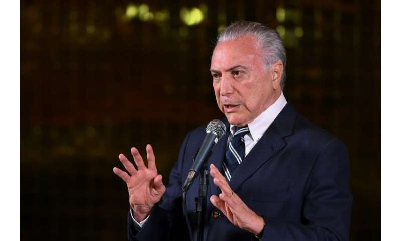 Brazil's President Michel Temer, who on Wednesday inaugurated the start of construction on a particle accelerator in Brazil