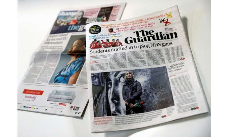 British Guardian MEdia Group said that voluntary financial contributions from online readers helped its digital revenues surpass