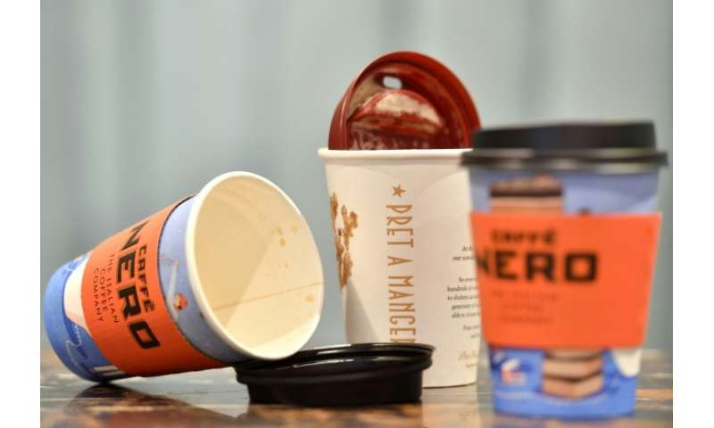 British lawmakers this month called on the government to impose a charge on disposable coffee cups and set a target to recycle a