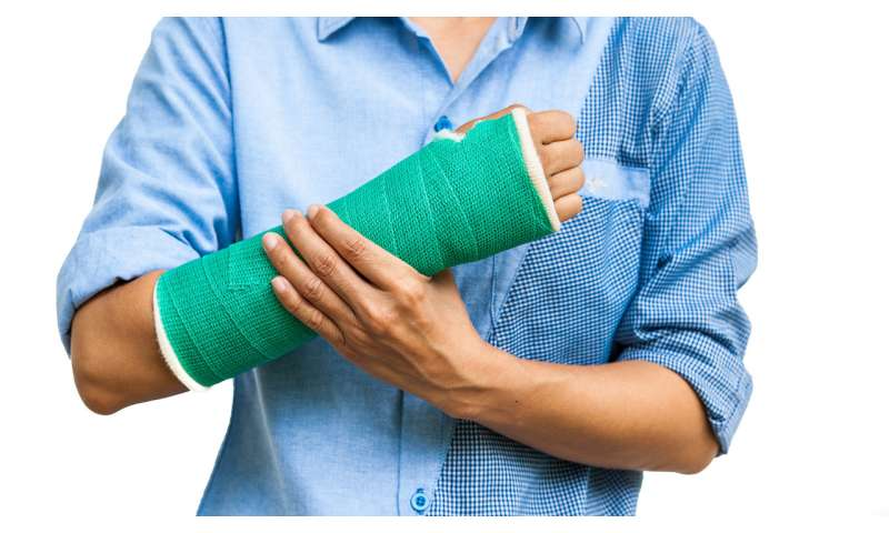 Broke your arm? Exercise the other one to strengthen it...