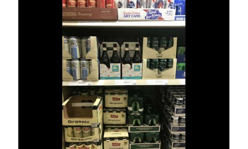 Canadian craft brewers, whose wares are seen at a liquor store on August 2, 2018 in Ottawa, are facing a shortage of cans linked