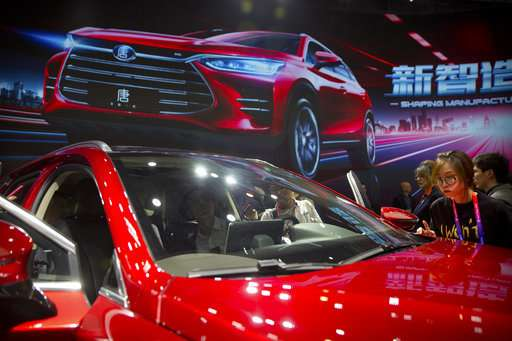 China monthly car sales pick up in April; EV sales double