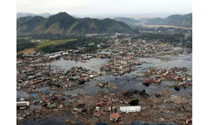 Coastal settlements can be ruined by tsunamis, as happened across a huge area of Asia after the December 2004 disaster, includin