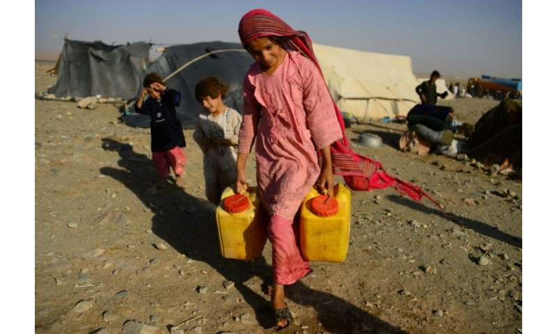 Conditions are miserable in the camps where families displaced by the drought have settled as temperatures drop across the count
