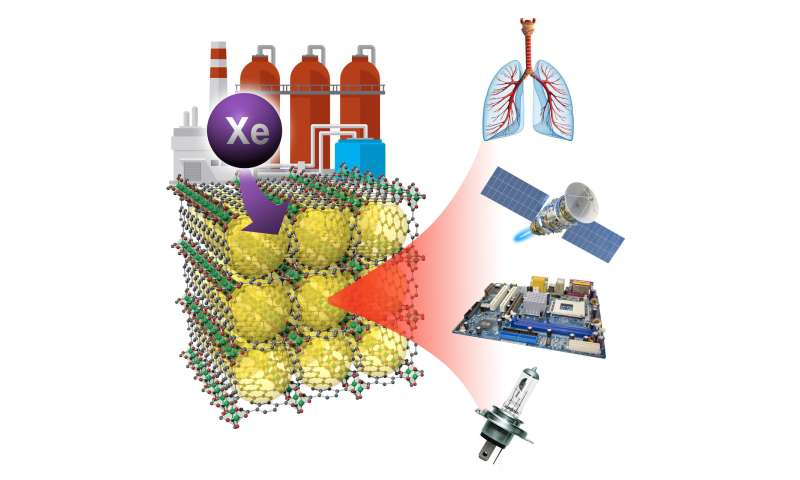 Corralling xenon gas out of waste streams