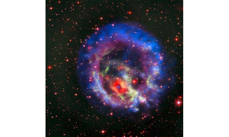 Dead star circled by light