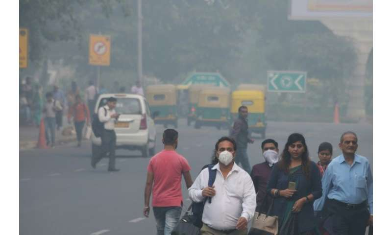 Delhi on Monday had emergency pollution levels more than 35 times the World Health Organization safe limit