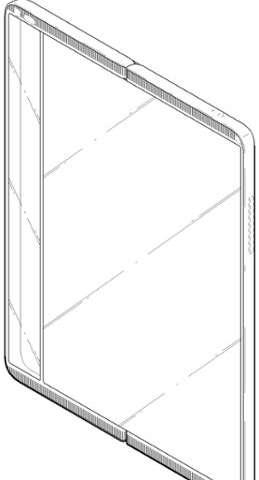 Designs on a foldable mobile phone cast spotlight on LG