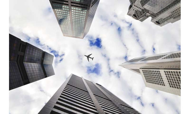 Does the urban morphology have influence on the noise levels provoked by aircrafts?