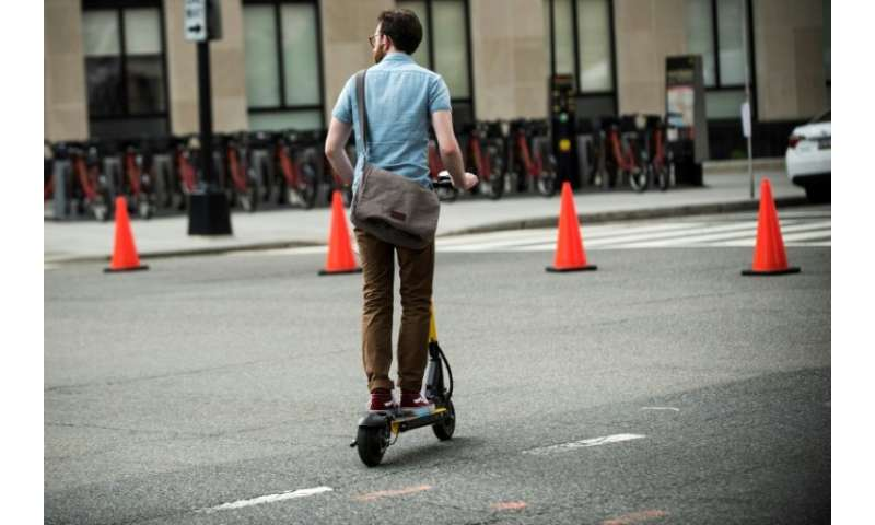 Electric scooters rented by smartphone app are becoming a trend in Washington DC and other cities