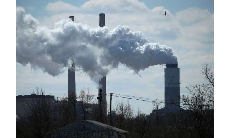 Emissions spew from the coal fired Brandon Shores Power Plant, on March 9, 2018 in Baltimore, Maryland