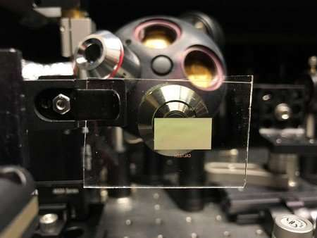Engineered metasurfaces replace adhesive tape in specialized microscope