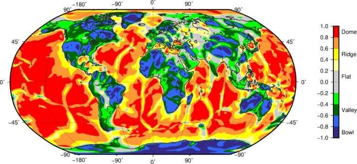 Enhanced views of Earth tectonics