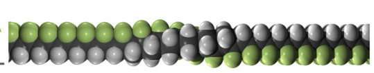 Enhancement of piezoelectric properties in organic polymers all in the molecules