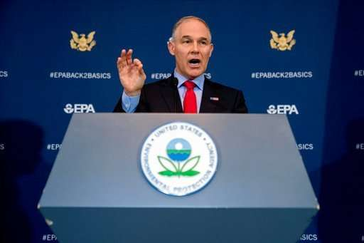 EPA chief signs proposal limiting science used in decisions