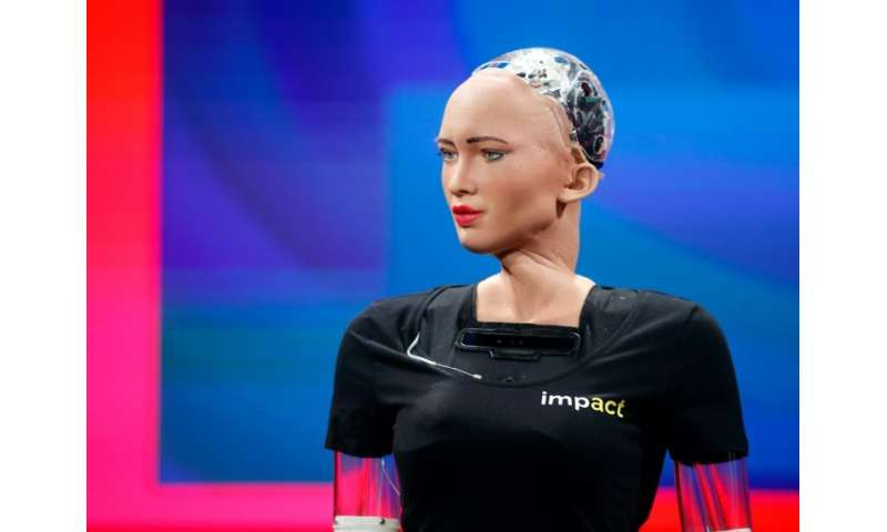 Erica and other humanoid robots like her, such as Sophia, pictured here, are a prime focus of robotic research