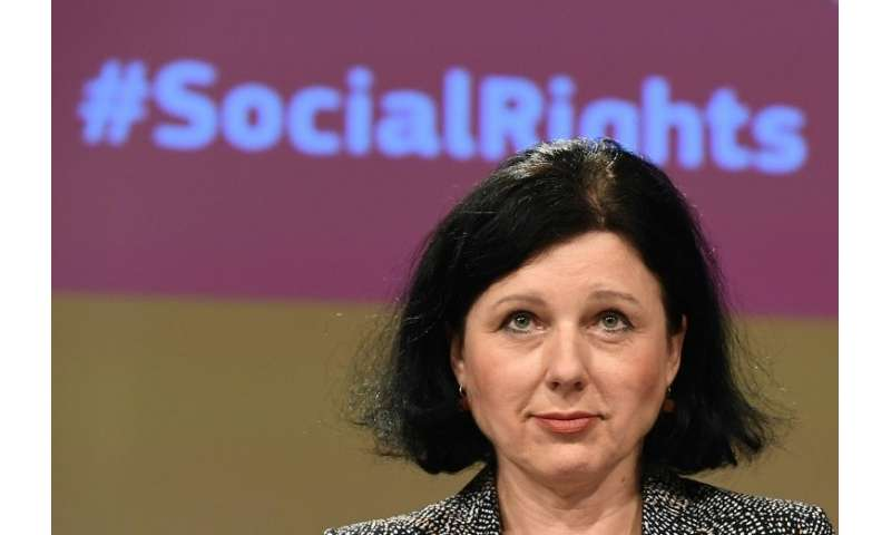 """European Commissioner Vera Jourova said the misuse of Facebook data by a political firm would be """"horrifying"""" if confi"""