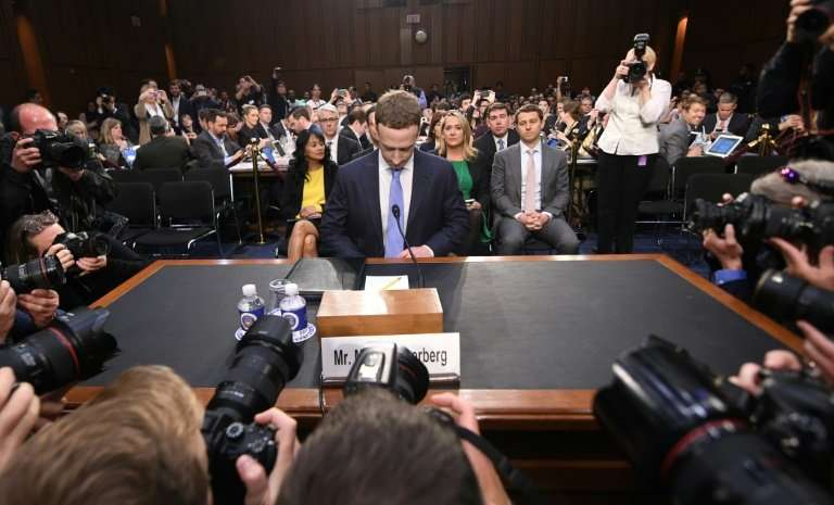 Facebook critics argue that  CEO Mark Zuckerberg—seen at a congressional hearing in April—needs more oversight from the company'