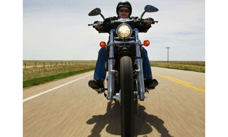 Fewer cervical spine injuries seen with motorcycle helmet use