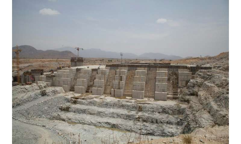 File picture from March 2015 of Ethiopia's Grand Renaissance Dam. The project has stirred fears in parched Egypt that it could c