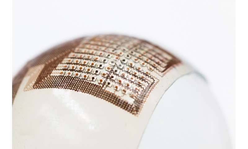 Flexible ultrasound patch could make it easier to inspect damage in odd-shaped structures