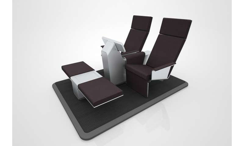 Fly with individually air-conditioned seats