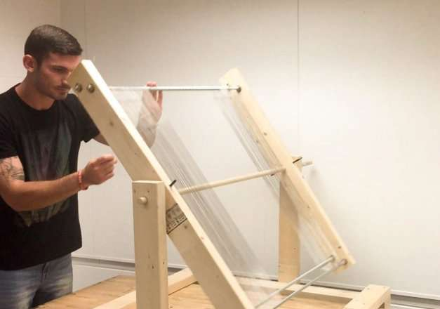 Fog harp' increases collection capacity for clean water