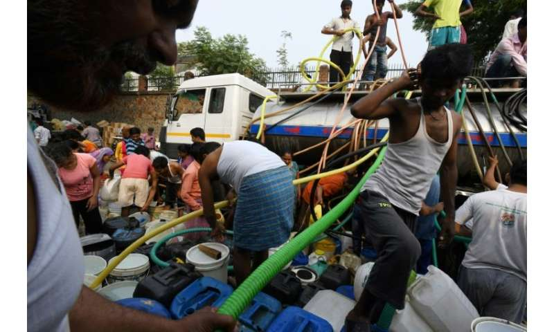 For many in Delhi, the daily water run is a mad and sometimes dangerous scramble