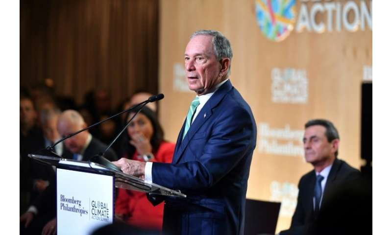 Former New York Mayor Michael Bloomberg speaks  at the Global Climate Action Summit in San Francisco, California