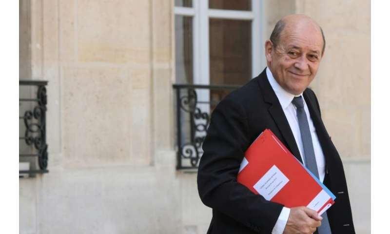 "France's top diplomat Jean-Yves Le Drian called Washington's reimposition of sanctions on Iran ""unacceptable"""