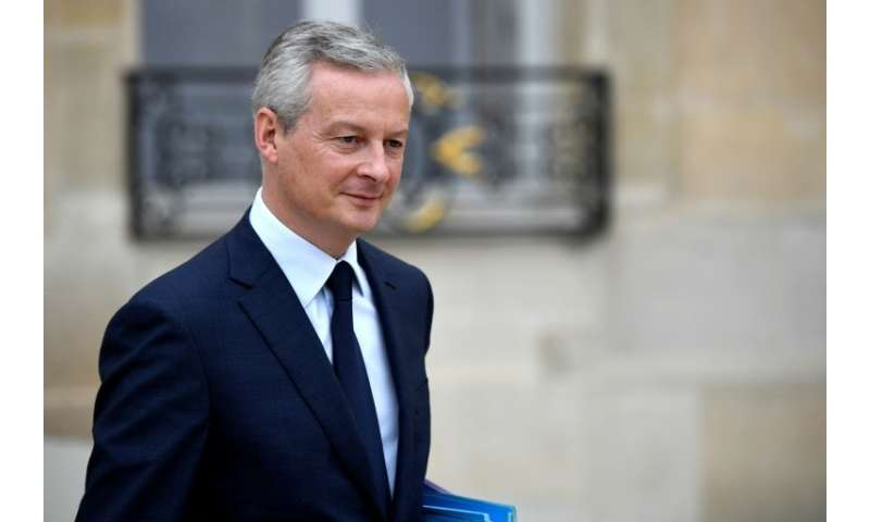 French Economy Minister Bruno Le Maire, pictured October 24, 2018, told journalists that a meeting in Berlin with his German cou
