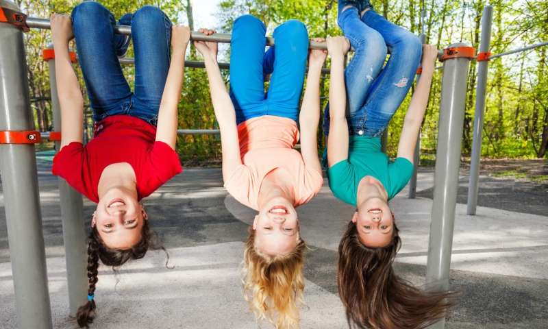 Friends play bigger role than others in how active girls are in late childhood, study shows