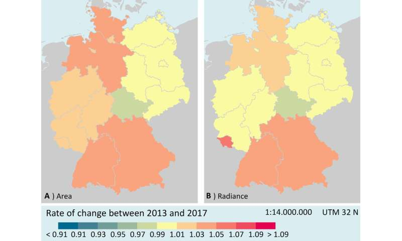 German nights get brighter -- but not everywhere