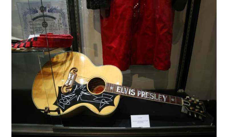 Gibson, maker of iconic guitars like this Elvis Presley's limited edition Gibson EJ-200E, filed for Chapter 11 protection