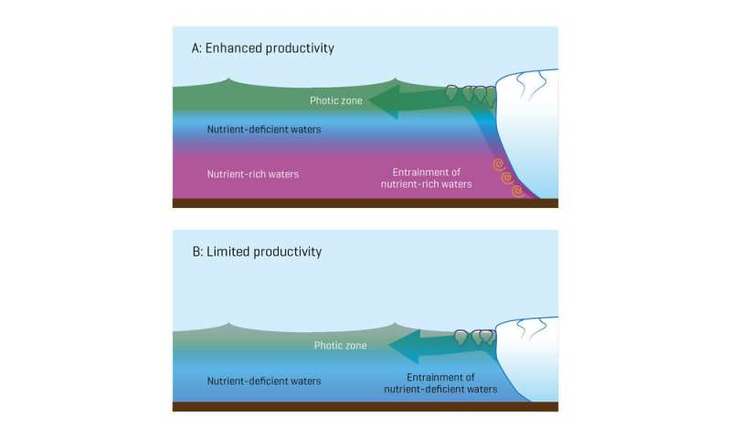 Glacier depth affects plankton blooms off Greenland
