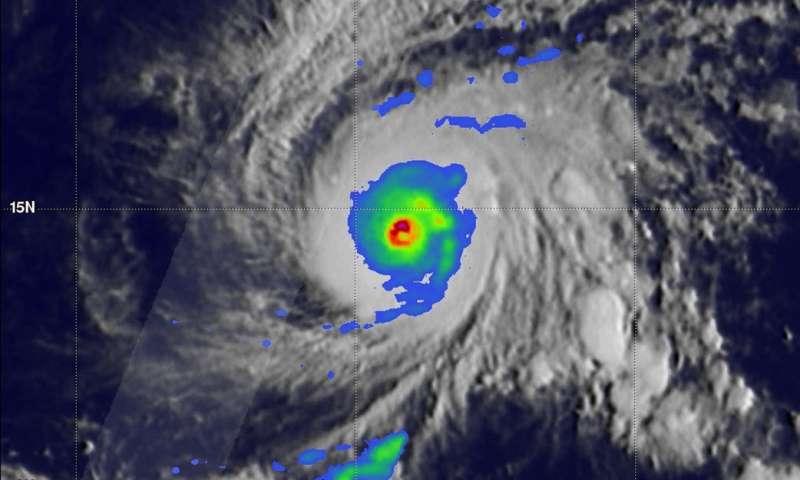 GPM sees Hurricane Lane threatening Hawaiian islands with heavy rainfall