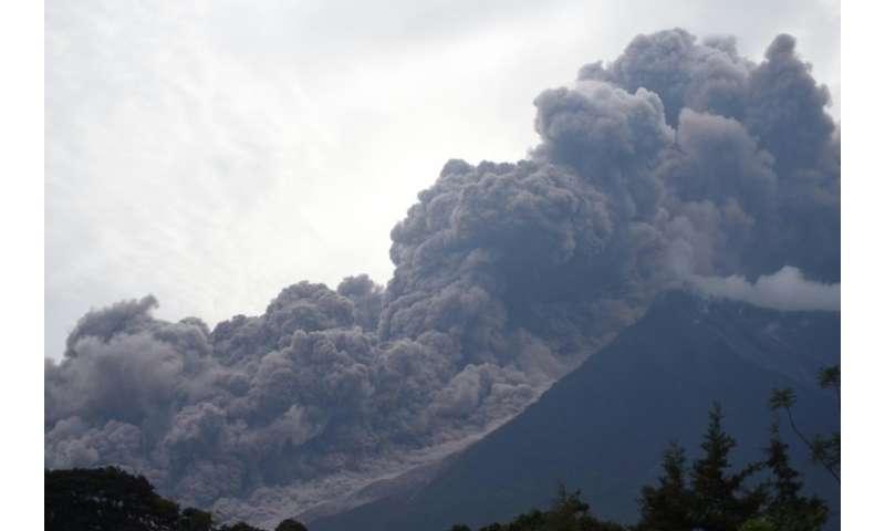Guatemala's Fuego volcano erupts on June 3, 2015
