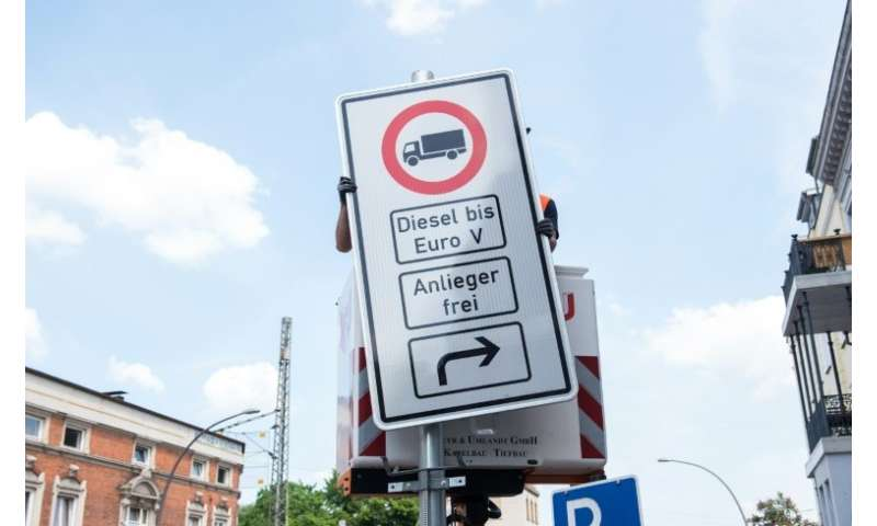 Hamburg is banning some diesel vehicles from two major arteries to improve air quality